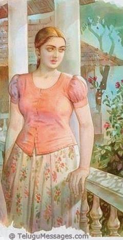 Girl waiting for her lover - Art
