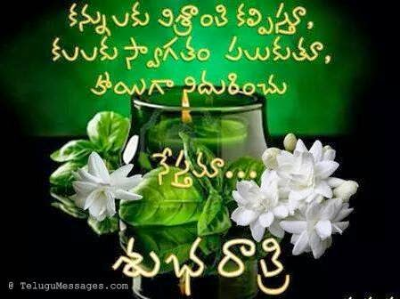 Good Night Wishes in Telugu