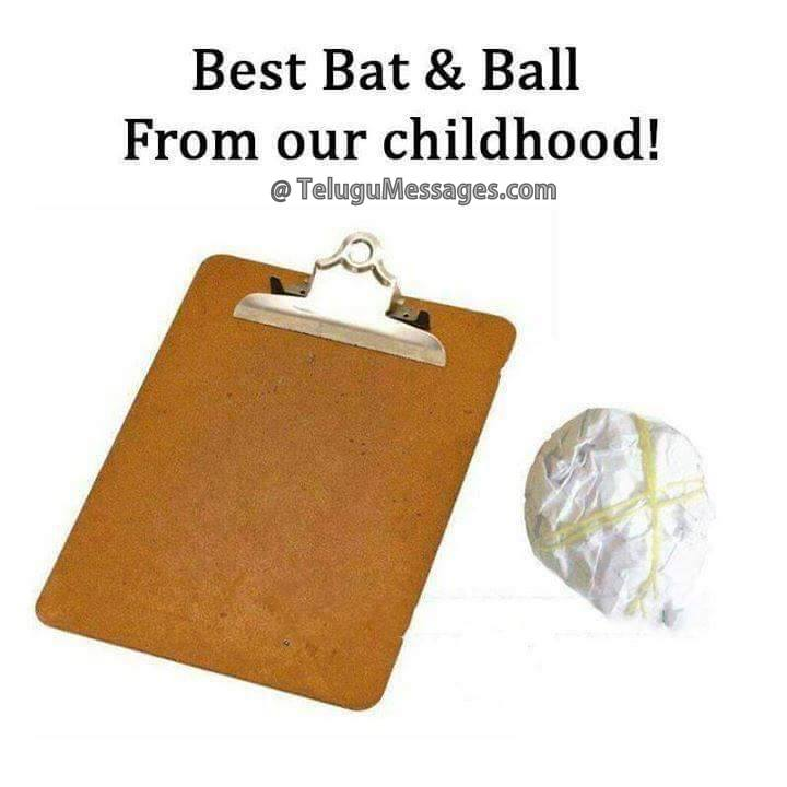 Childhood best bat and ball game