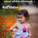 Telugu Good Morning Quote on Life Relationships
