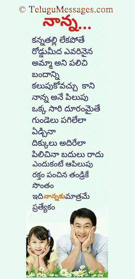 Best father quote kavitha in Telugu
