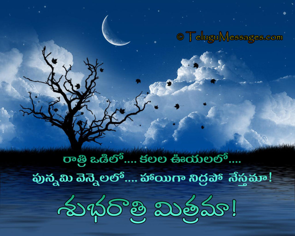 Telugu Good Night Quote for Happy Sleep