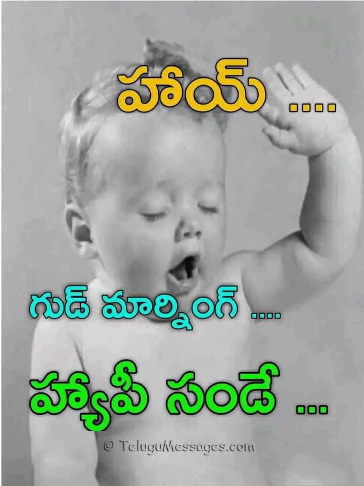 Happy Sunday Good Morning in Telugu - శుభోదయం