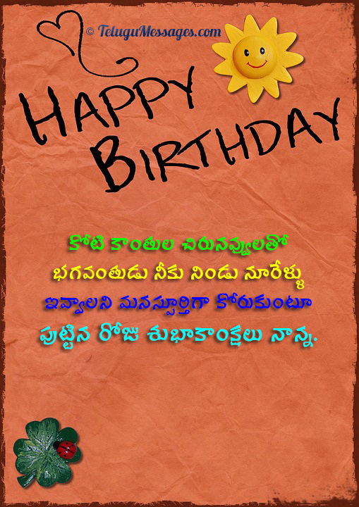Brilliant Happy Birthday Wishes In Telugu Birthday Greetings Quotes Personalised Birthday Cards Veneteletsinfo