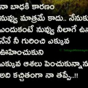 Sad Friendship Quotes in Telugu